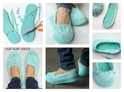 Comfortable Slipper Shoes How To Crochet Slippers With Flip Flop Soles