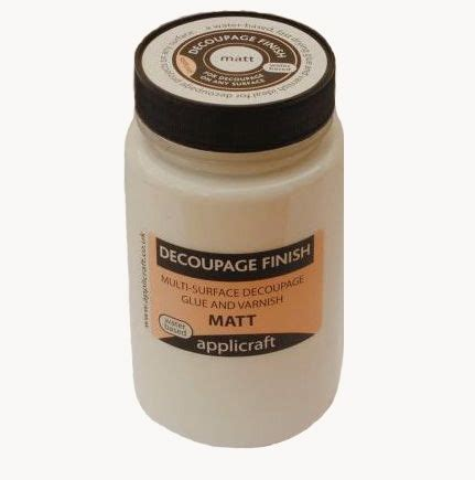 decoupage finish 250ml decoupage finish matt