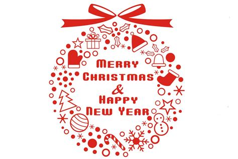 merry christmas  happy  year active language learning