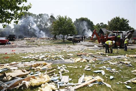 House Explosion by A Miracle That No One Killed During Marengo Explosion That Set 4 Houses Ablaze News
