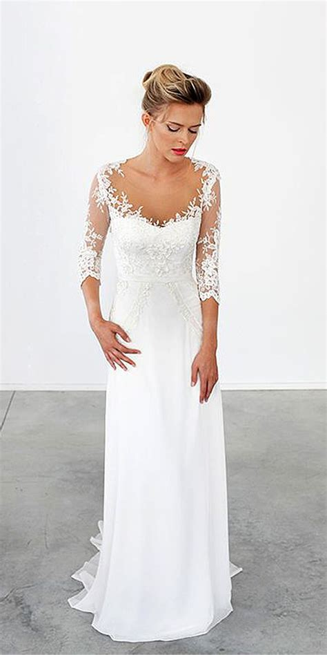 Simple Wedding Gowns With Sleeves by 30 Simple Wedding Dresses For Brides Wedding