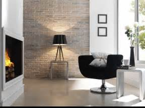 Black Occasional Chair Design Ideas Popular Modern Living Areas Decor With Built In Fireplace Also Exposed Brick Wall Feat