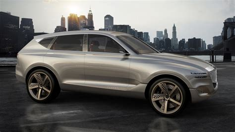 genesis athletic genesis gv80 in fuel cell concept suv blends