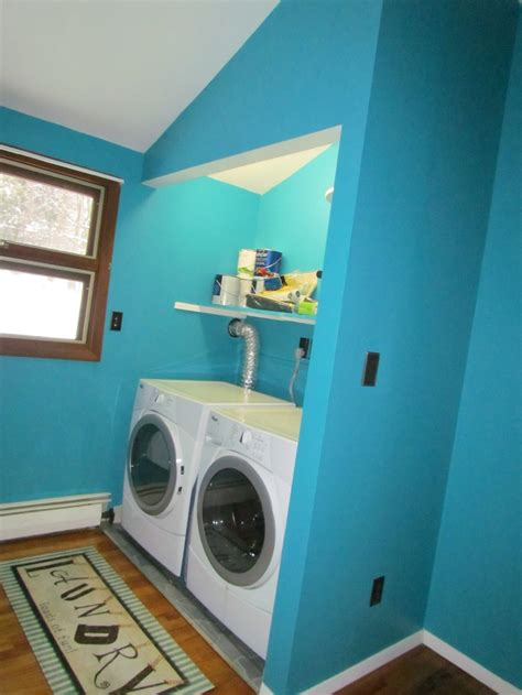 laundry room painted in valspar catwalk my projects aqua laundry and valspar