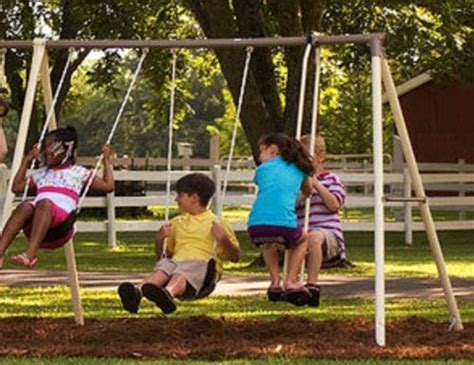 flexible flyer play park metal swing set flexible flyer play park metal swing set four passenger