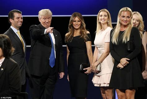 donald family pictures clinton brands donald a during presidential debate daily mail