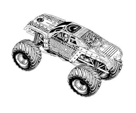 monster truck videos free free printable monster truck coloring pages for kids