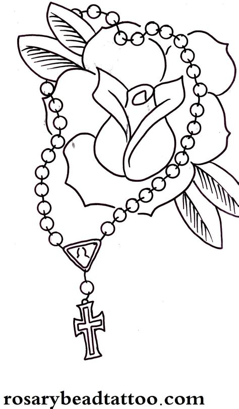 rose with rosary tattoo designs tattoos designs ideas page 54