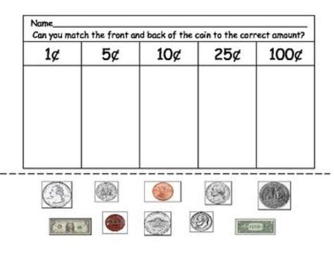 Coin Values Worksheet by Quot Free Worksheet Matching Coins To The Correct Value Use