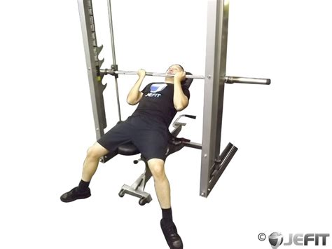 incline smith bench press smith machine reverse grip incline bench press exercise