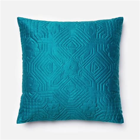 throw pillow teal 22 inch decorative pillow with down insert loloi