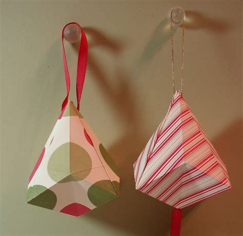 Origami Bells - artful imagination origami bell ornaments