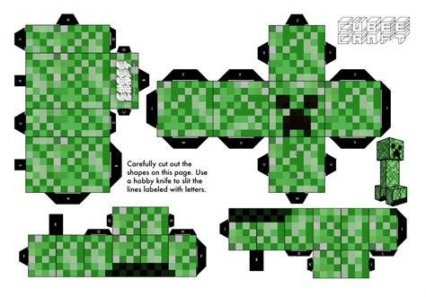 Creeper Minecraft Papercraft - papercraft minecraft creeper images