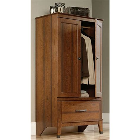 sauder furniture armoire sauder carson forge washington cherry armoire 415107 the home depot