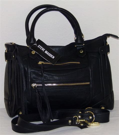 details about steve madden handbags black btalia satchel handbag purse shldr bag org 88