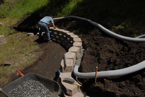 retaining wall drainage redwood acres