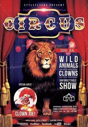 Circus Flyer Template by Circus Premium Psd Flyer Template 19428 Styleflyers