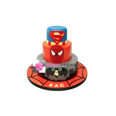Gâteau d'anniversaire Super Héros, Superman, Batman