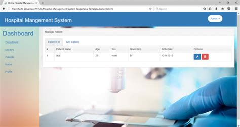bootstrap templates for hotel management free download online hospital management system html css