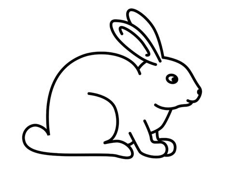 simple rabbit coloring page free printable rabbit coloring pages for kids