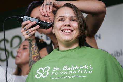 st baldricks women heads get shaved during st baldrick s celebration