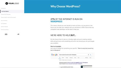 design proposal free wordpress website design proposal template better