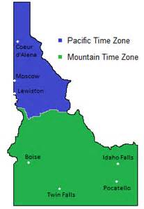 us time zone map idaho time zones map in idaho usa timebie
