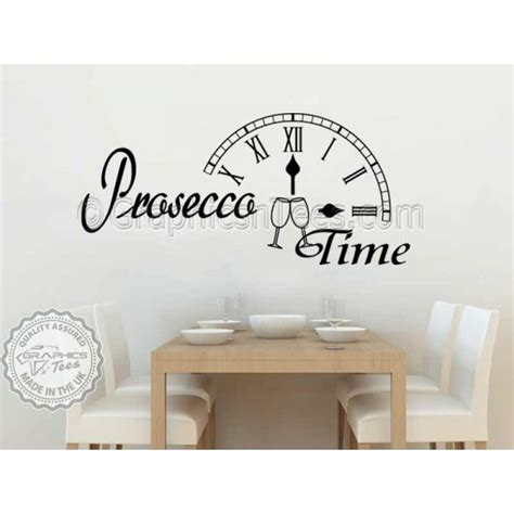 Kitchen Wall Stickers Quotes prosecco time kitchen dining room wall sticker fun quote