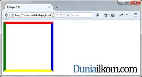 membuat warna border tabel html tutorial css cara membuat garis tepi html border