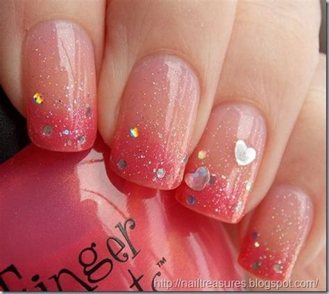 valentines day nail sparkly valentine s day gradient nails beautytidbits