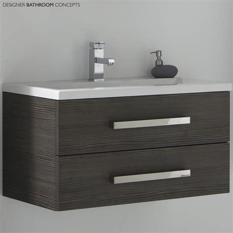 Aquatrend Designer Bathroom Vanity Unit Avola Grey Grey Bathroom Vanity Units