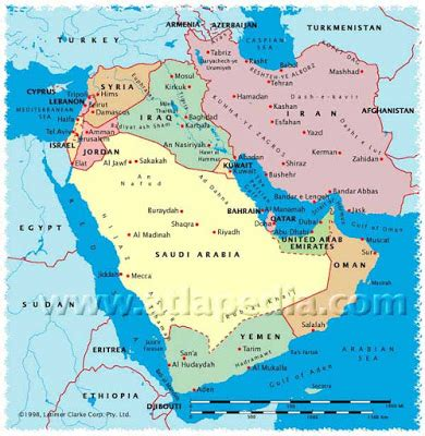 Arabian Peninsula On World Map by Surviving Capitalism A Selection Of The Most Credible