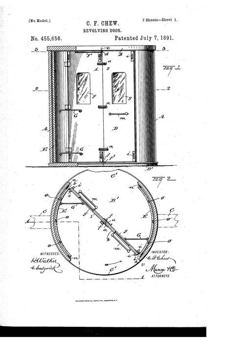 revolving door section patent us455656 revolving door google patents