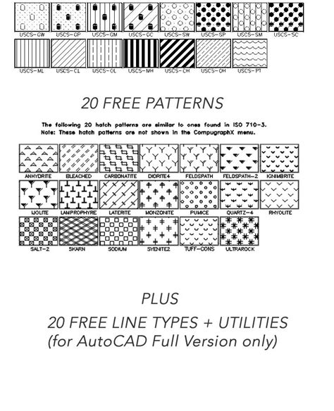 download pattern hatch autocad autocad hatch patterns a library containing 365 hatch
