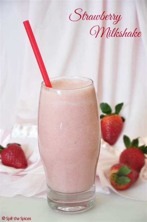 strawberry shake strawberry milkshake spill the spices