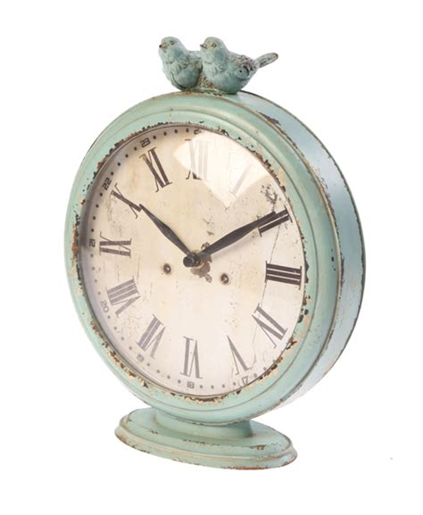 beautiful boudoir table clock duck egg shabby chic