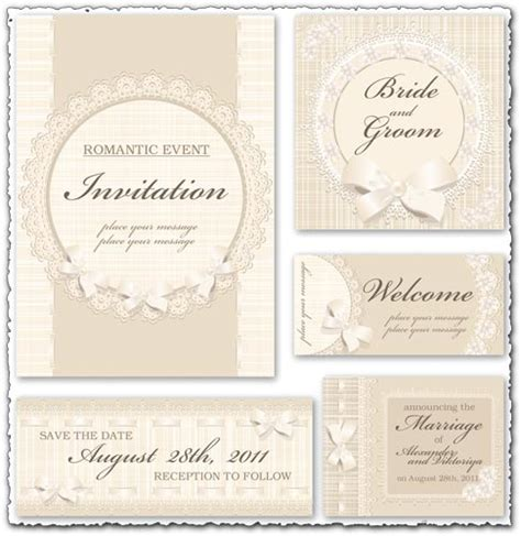 vector wedding invitations classic wedding invitation vectors