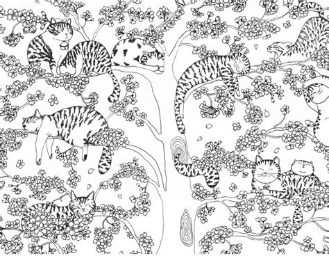 Millions Of Cats Coloring Pages | a million cats fabulous felines to colour free pattern