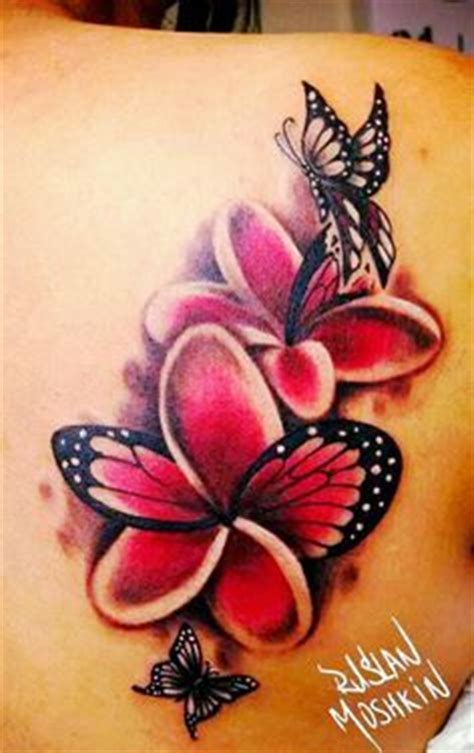 hawaiian plumeria tattoo designs butterfly plumeria search tattoos