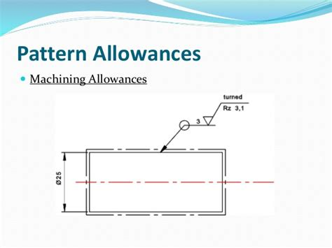pattern allowances video unit 1 manufacturing technology i metal casting process