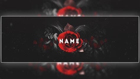 rose themed banner twitter header template psd free download cool rose
