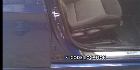 bmw paint color code location