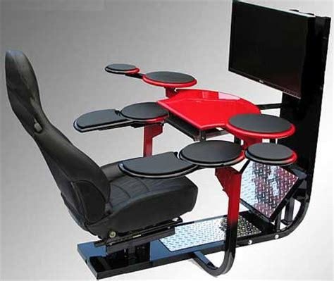 Gaming Desk And Chair Furniture Fashionvision One Chair Ergonomic Gaming And Computer Workstation