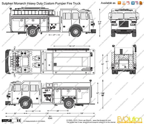 blueprintscom vector drawing sutphen monarch heavy duty custom pumper fire truck