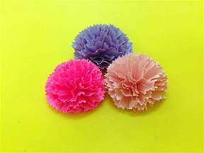 Carnation Paper Flower - how to make carnation paper flower easy origami flowers