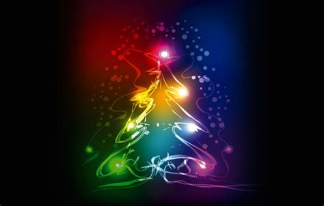 wallpaper new year neon tree colors tree christmas
