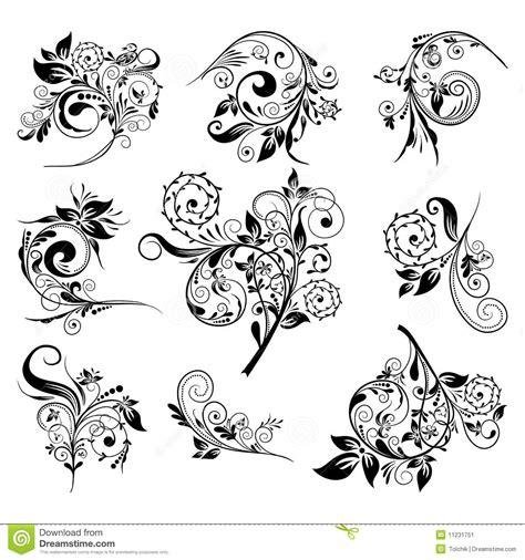 floral design elements vector set set of floral elements for design vector stock image