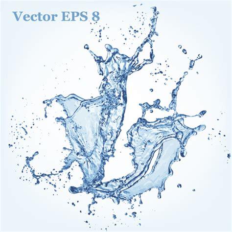 water effect design vector transparent water splash effect vector background free