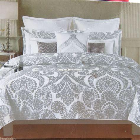 metallic gold bedding metallic silver king duvet cover 3pc damask scroll silver