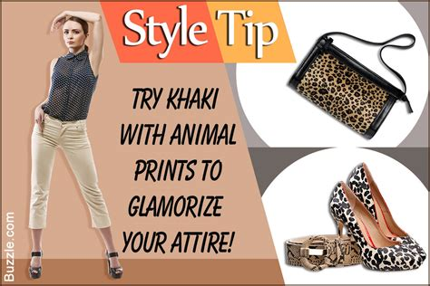 10 Ways To Wear Animal Graphics by 10 Extremely Smart Tips To Wear Your Khaki The